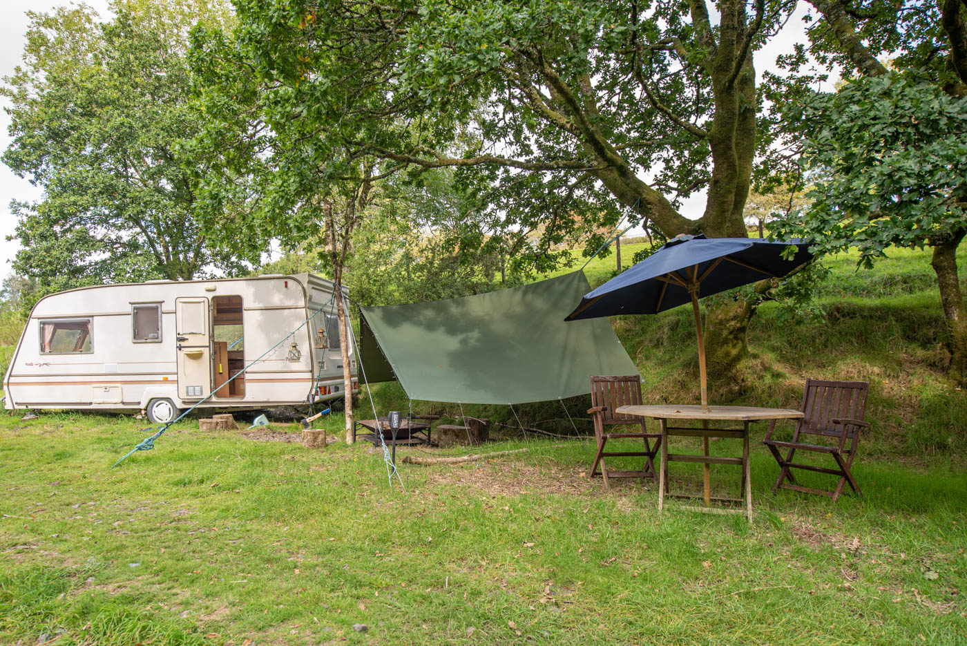 wheels in the wilderness caravan in secluded spot